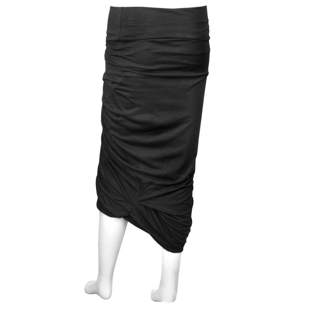 Matthildur Ruched Front Skirt - Black