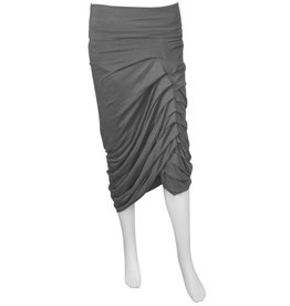 Matthildur Ruched Front Skirt - Grey