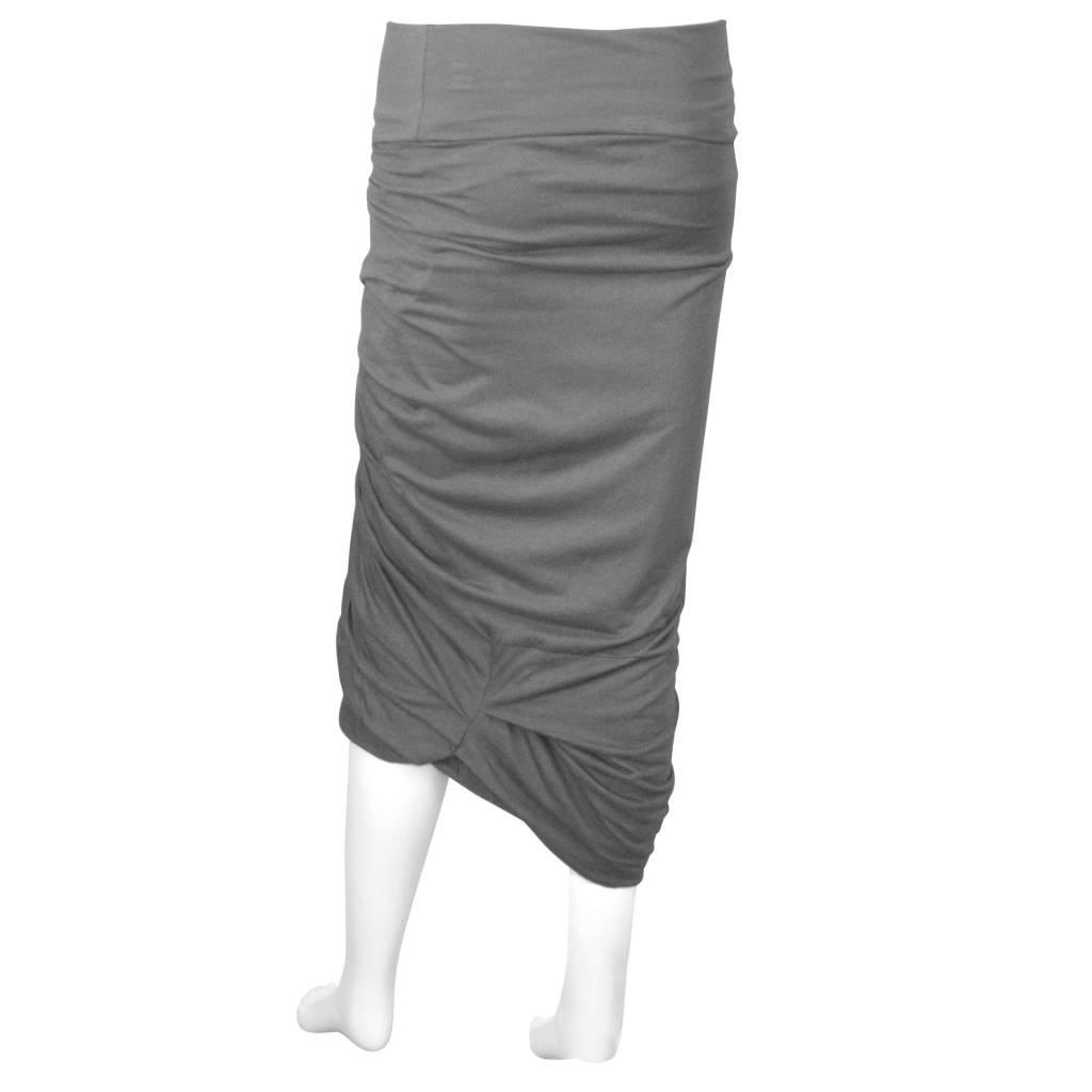 Matthildur Ruched Front Skirt - Grey