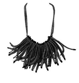 Beyond Threads Beyond Threads Flecos Fringes Necklace - Black