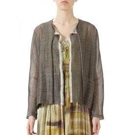 Babette Babette Reversable Tie Jacket - Ivory/Taupe