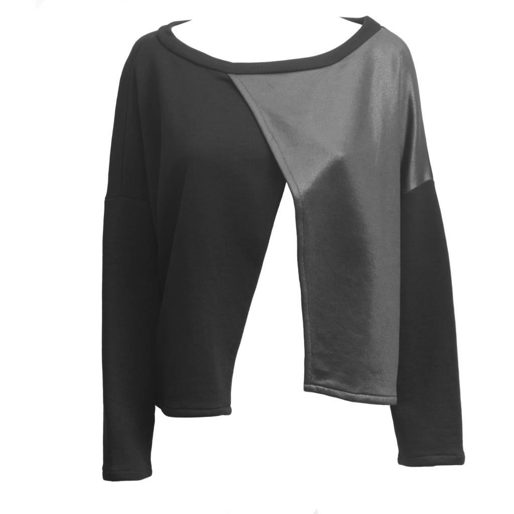 Avivit Yizhar Avivit Yizhar Split Front Sweater - Black/Silver