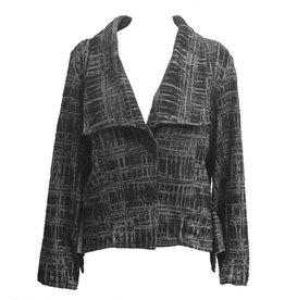 Dress To Kill Dress To Kill Grey & Black Plaid Abstract Jacket