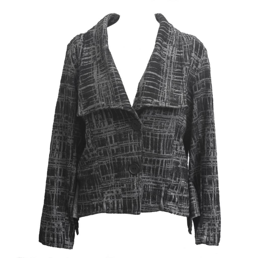 Dress To Kill Dress To Kill Grey & Black Plaid Abstract Jacket