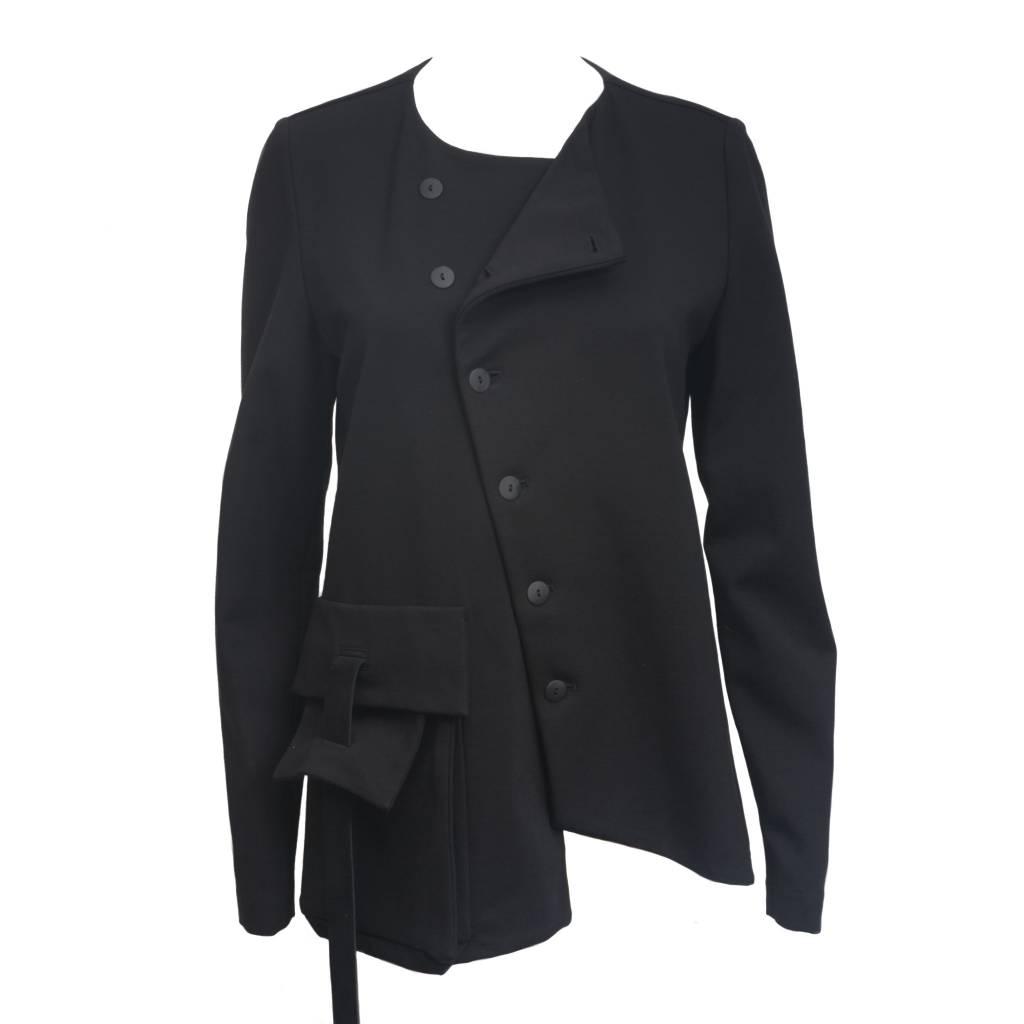 Sarah Pacini Sarah Pacini Diagonal Button Jacket - Tempo