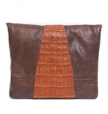 Grace Ann Agostino Grace Ann Agostino Leather And Crocodile Envelope