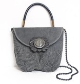 Grace Ann Agostino Grace Ann Agostino Leather Puffy Handbag with Handle