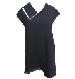 Art Point Art Point Sleeveless Tunic - Black