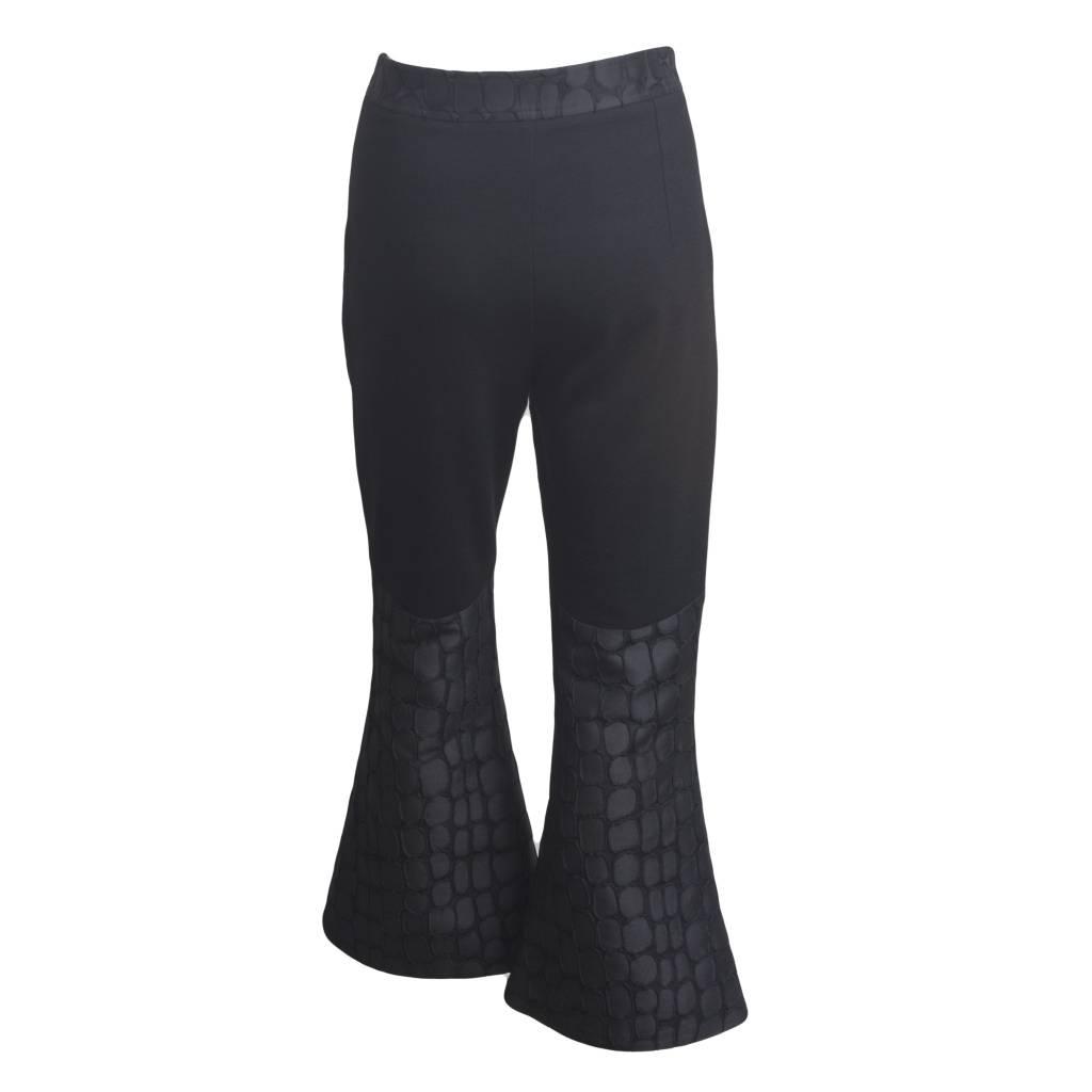 Xenia Xenia Toza1 Textured Flare Crop Pants