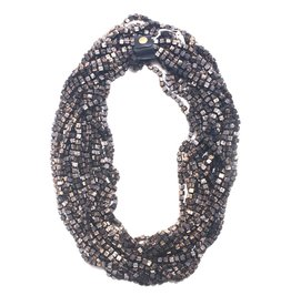 Jianhui Jianhui 10-Strand Wooden Beads Necklace