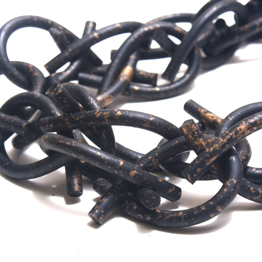 Jianhui Jianhui Rubber Chain Necklace - Black/Copper