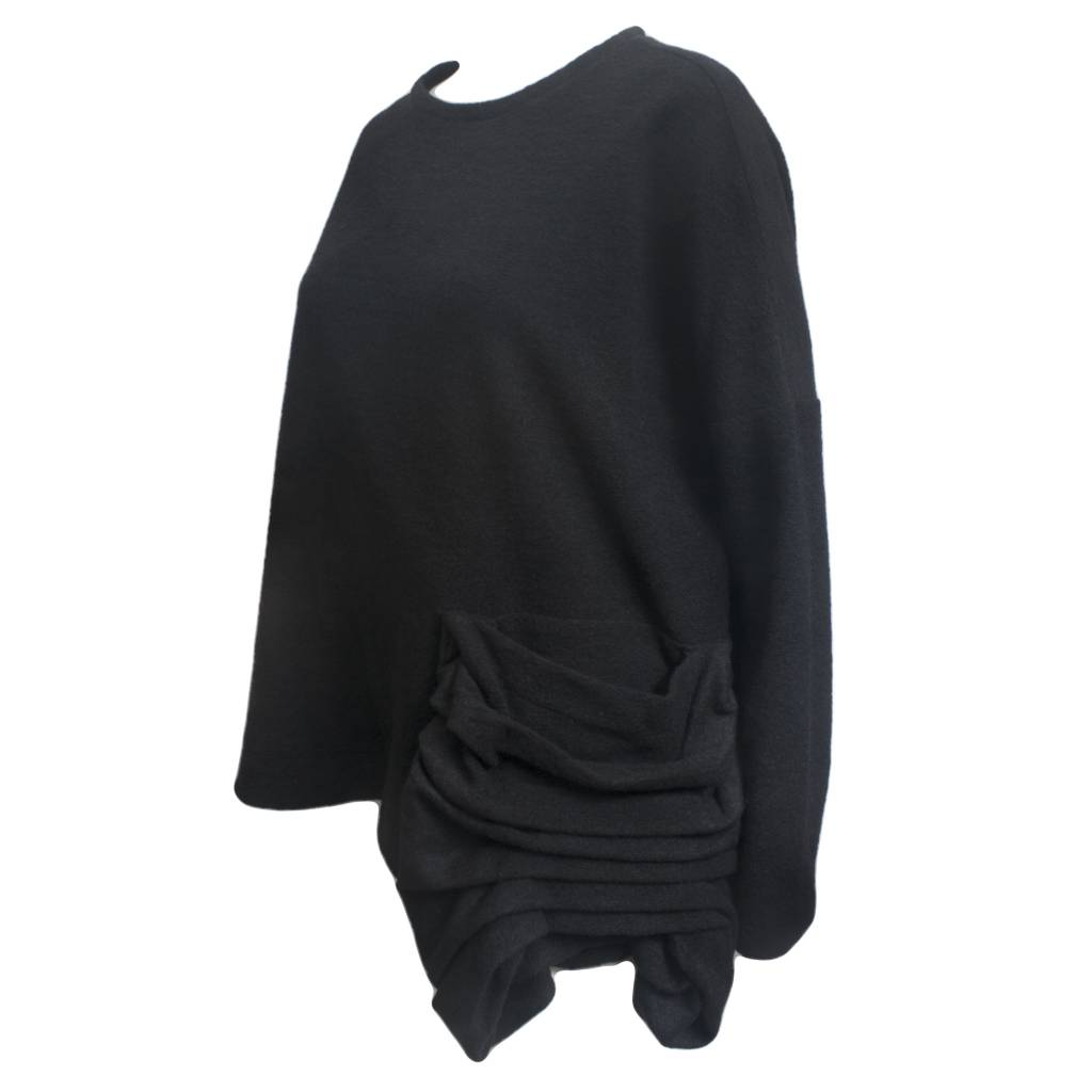 Nuovo Borgo Ruched Pocket Top - Black