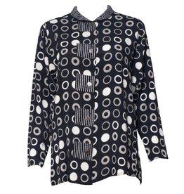 Marla Duran Marla Duran Stripe/Grey Circles Shirt