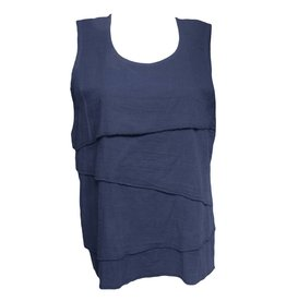 Dress To Kill Dress To Kill Layered Tank - Navy
