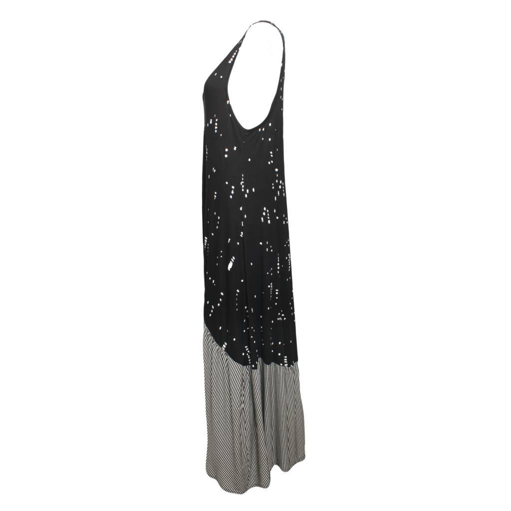 Alembika Alembika Sleeveless Stripe Bottom Dress