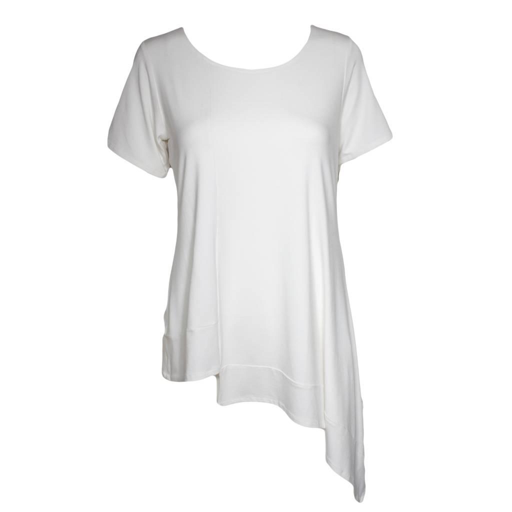 Avivit Yizhar Avivit Yizhar Short Sleeve Asym Top - White