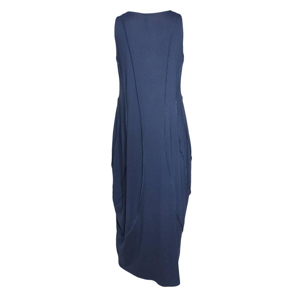 Avivit Yizhar Avivit Yizhar Sleeveless Exposed Seam Dress - Blue Print