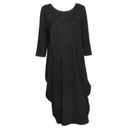 Avivit Yizhar Avivit Yizhar Long Sleeve Exposed Seam Dress - Black