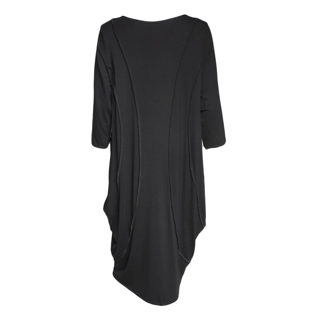 Avivit Yizhar Avivit Yizhar Long Sleeve Exposed Seam Dress - Black