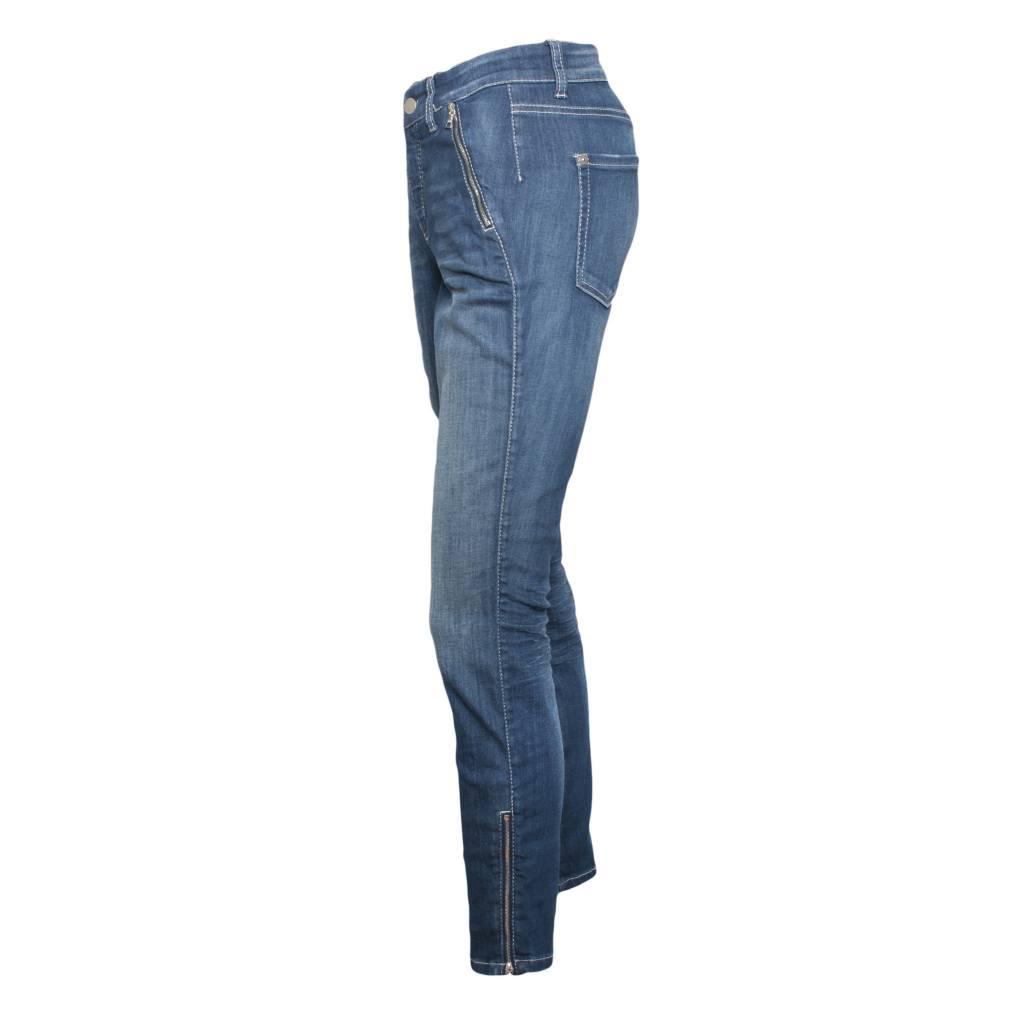 Cambio Parla Zip Jeans - Denim - Pomegranate La Jolla