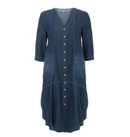 Alembika Alembika Button Front Pocket Dress - Denim