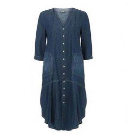 Alembika Alembika Button Front Pocket Dress - Denim