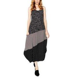 Alembika Alembika Sleeveless Mix Dress - Black