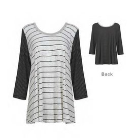 Alembika Alembika 3/4 Sleeve Stripey Top