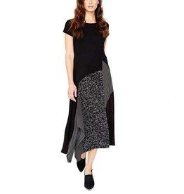 Alembika Alembika Short Sleeve Mix Dress - Black