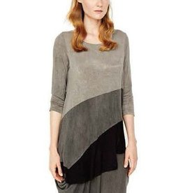 Alembika Alembika 3/4 Sleeve Grey Gradient Top