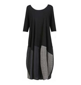 Alembika Alembika 3/4 Sleeve Mix Dress - Black