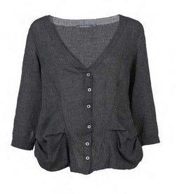 Alembika Alembika Linen Jacket - Grey/Black