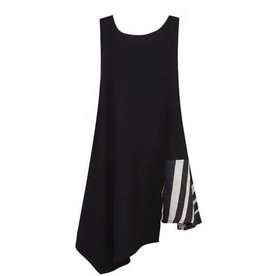 Alembika Alembika Sleeveless Stripe Accent Tank