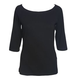 Alembika Alembika 3/4 Sleeve Top - Black