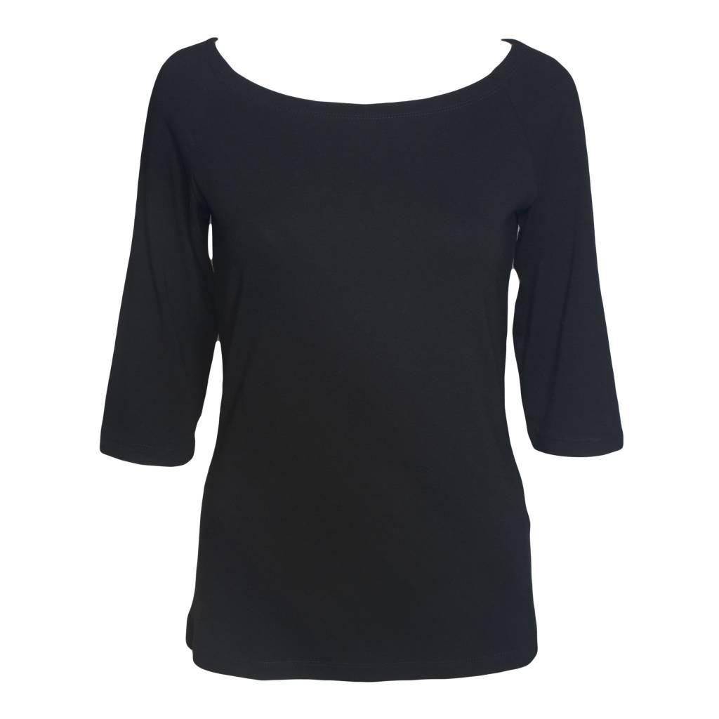 Alembika Alembika 3/4 Sleeve Top - Black