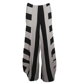 Alembika Alembika Widestripe Pants - Grey/Black