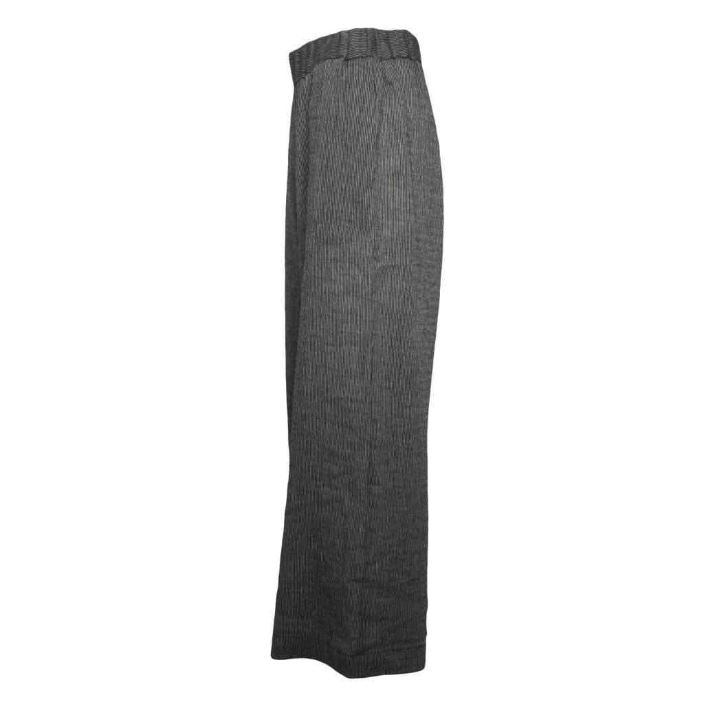 Alembika Alembika Stripe Linen Pants - Grey/Black