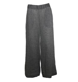 Alembika Alembika Stripe Linen Pants - Grey/Black