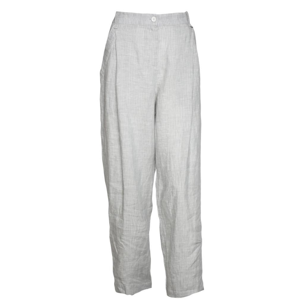 Crea Concept Crea Concept Linen Pants - Light Ash Stripe