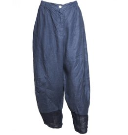 Banana Blue Banana Blue Sheer Bottom Pants - Navy