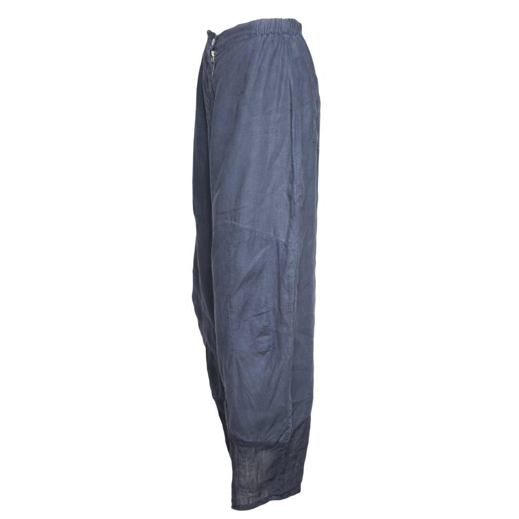 Banana Blue Banana Blue Sheer Bottom Pants - Navy