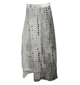 Crea Concept Crea Concept Dot Print Skirt - Grey/Black