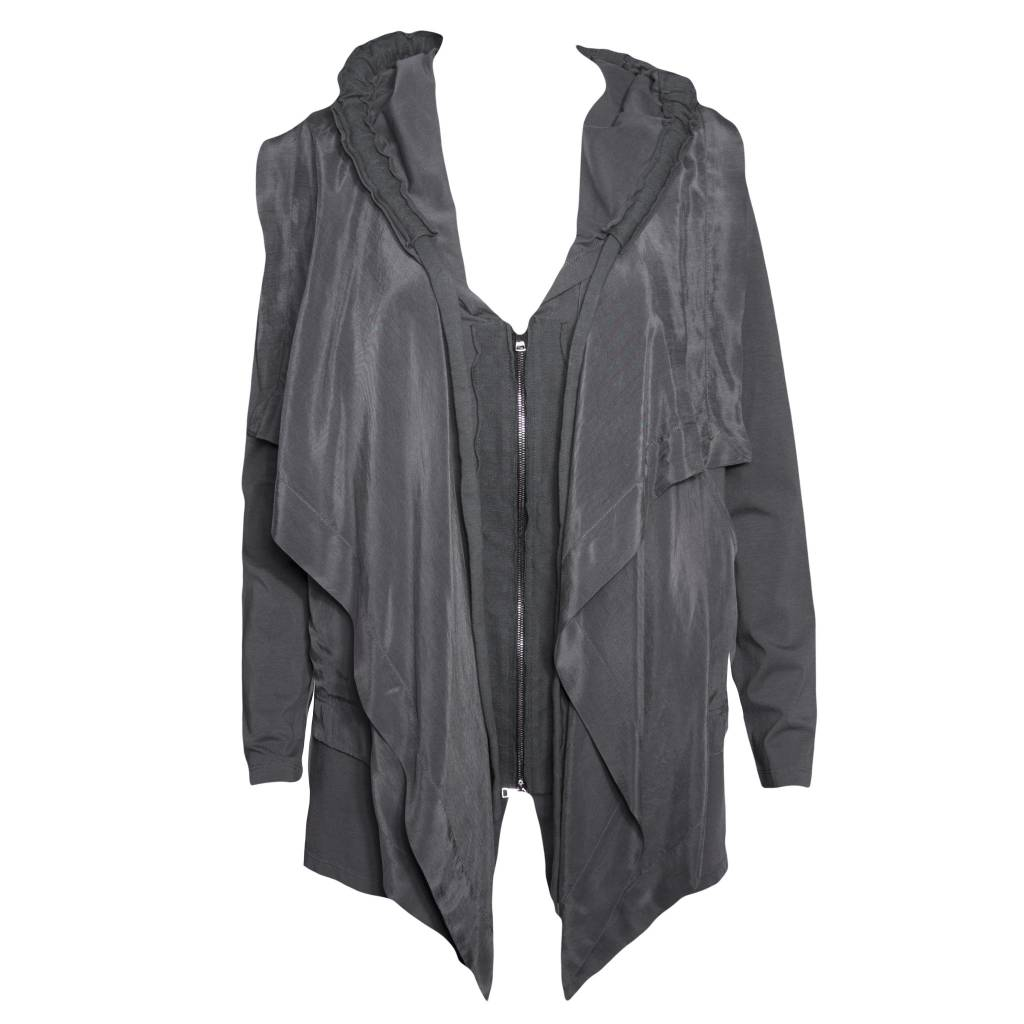 Crea Concept Crea Concept Hooded Jacket - Grey