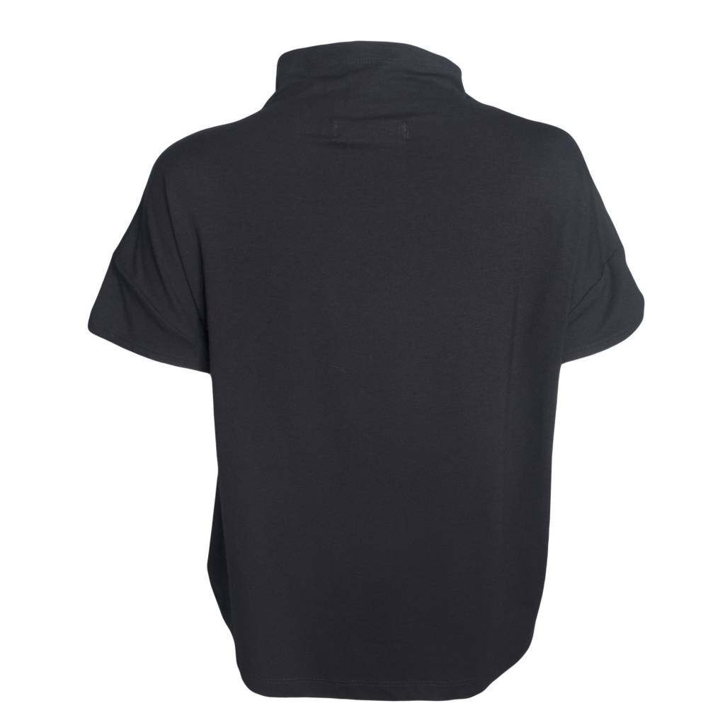 "Ivan Grundahl Ivan Grundahl ""Box"" Top - Black w/ White Stitching"
