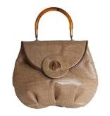 Grace Ann Agostino Grace Ann Embossed Leather Handbag