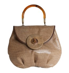Grace Ann Agostino Grace Ann Embossed Leather Handbag