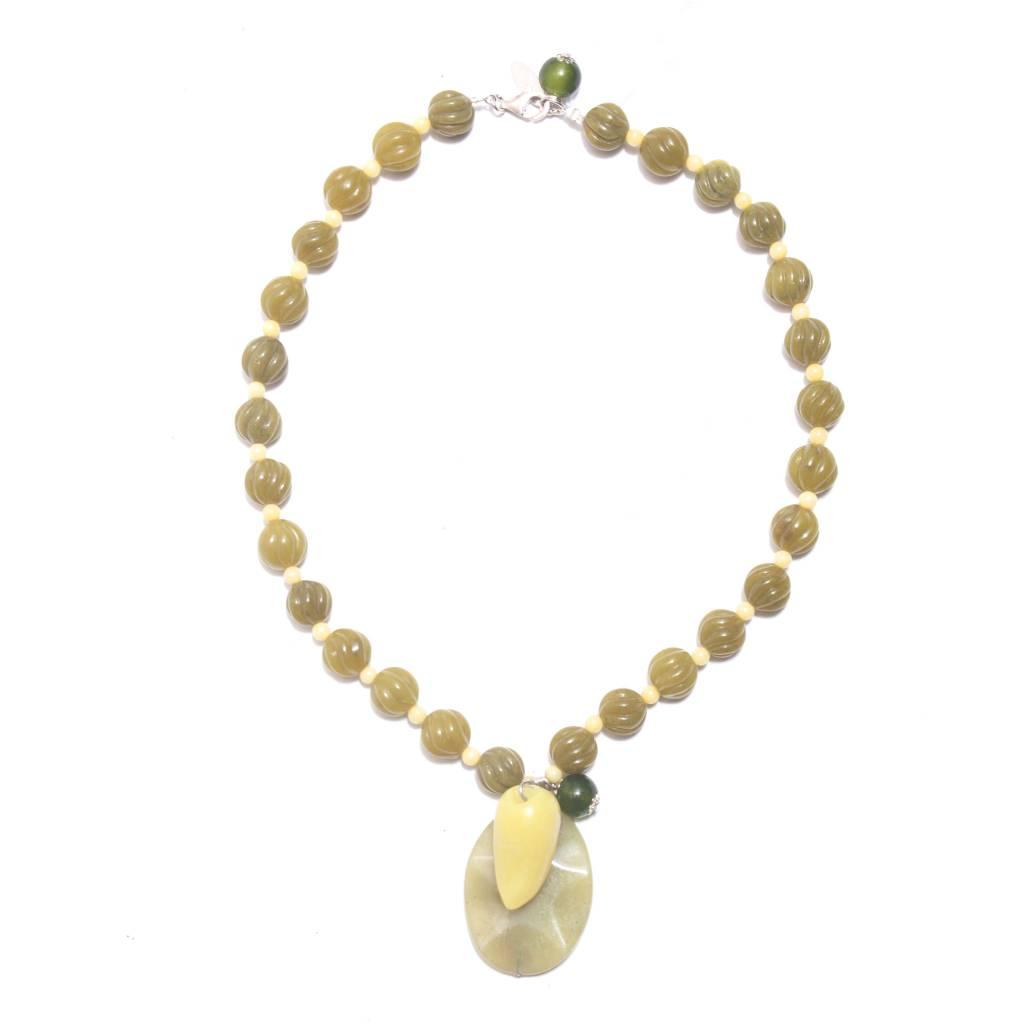 Jianhui Jianhui Carved Jade Necklace