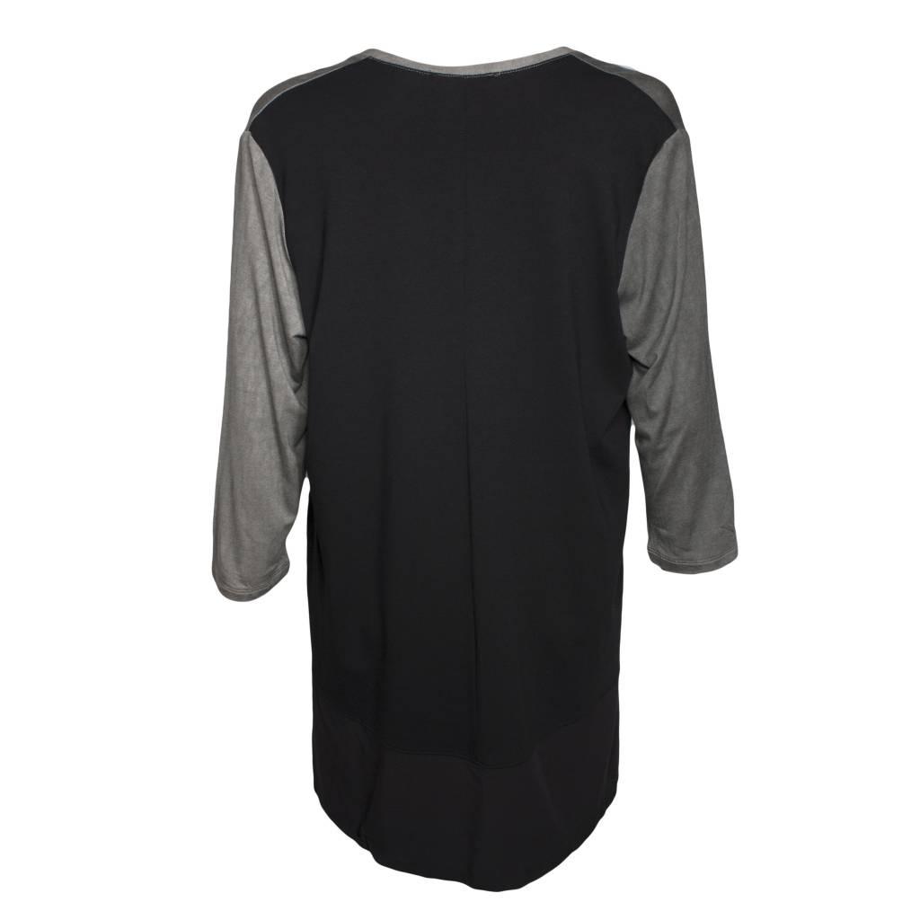 Alembika Alembika V-Neck Top - Grey/Black