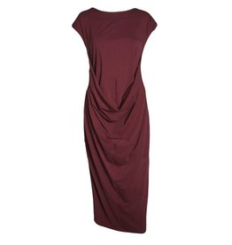 Nuovo Borgo Nuovo Borgo Short Sleeve Dress - Wine