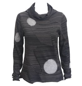 Crea Concept Crea Concept Cowl Neck Sweater - Grey Mix